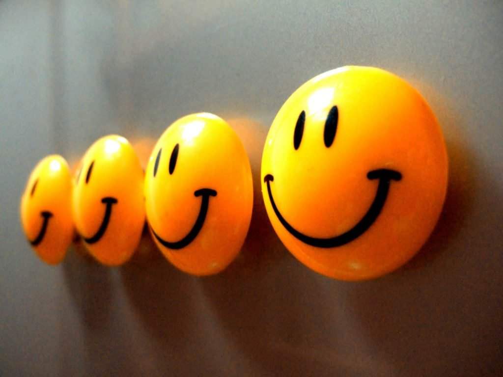 Happy faces fridge magnets